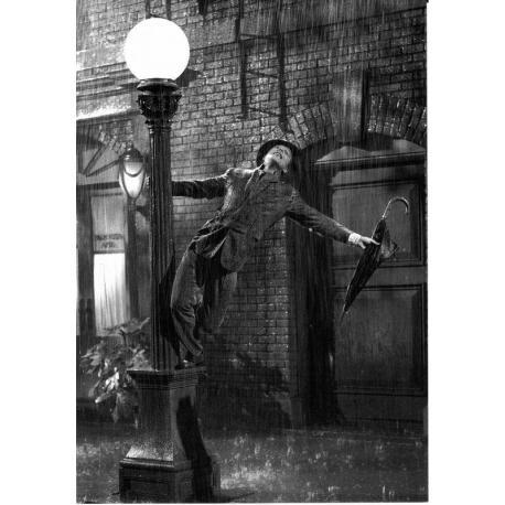Carte Chantons sous la pluie - Gene Kelly et Stanley Donen - 10.5x15 cm