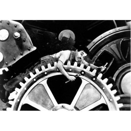 Carte Charlie Chaplin -Les temps modernes - 10.5x15 cm