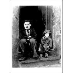 Carte Charlie Chaplin - The Kid 1921 - 10.5x15 cm