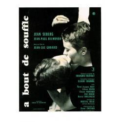Carte A bout de soufle - Jean Luc Godard - 10.5x15 cm