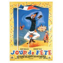 Carte Jour de Fête 1948 - Jacques Tati - 10.5x15 cm