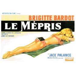 Carte Le Mépris avec Brigitte Bardot - Jean Luc Godard - 10.5x15 cm