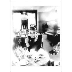 Carte Audrey Hepburn - Breakfeast - 10.5x15 cm