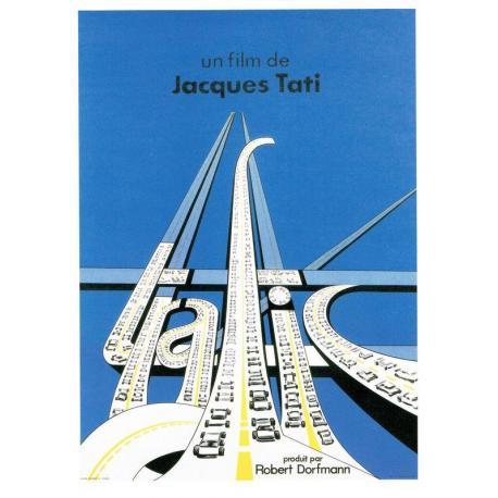 Carte Trafic - Jacques Tati 1971 - 10.5x15 cm