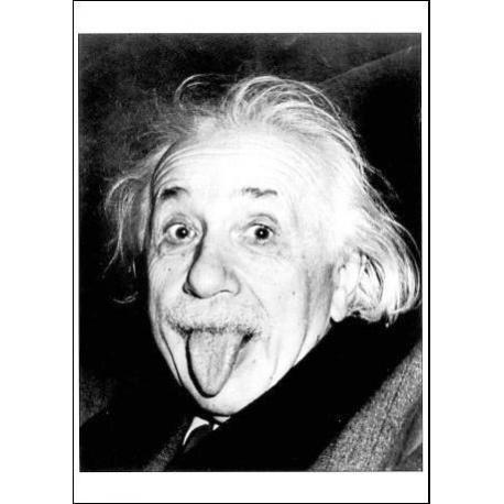 Carte Albert Einstein - Portrait - 10.5x15 cm