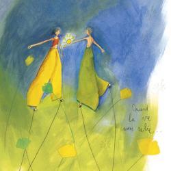 Carte Anne-Sophie Rutsaert - Quand la vie nous relie... - 14x14 cm