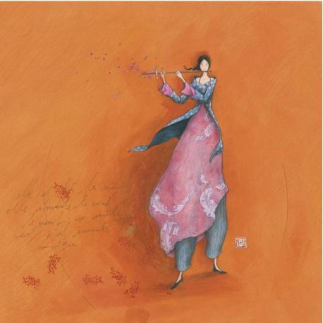 Carte Gaëlle Boissonnard - La musique du vent - 14x14 cm
