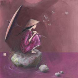 Carte Gaëlle Boissonnard - Contemplation - 14x14 cm