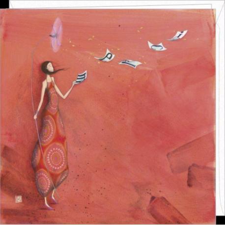 """Carte Gaëlle Boissonnard """"Merci"""" 16x16 cm"""