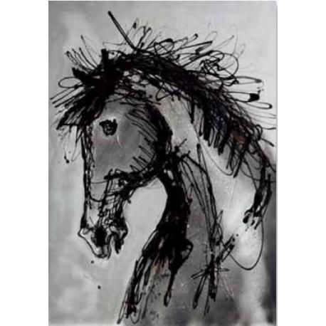 "Affiche Naja ""Cheval Yealing"" - 70x100 cm"