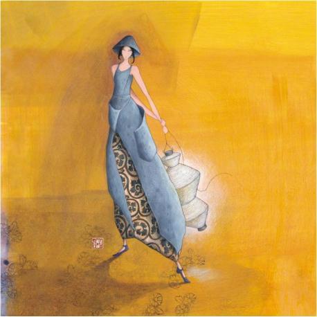 Carte Gaëlle Boissonnard - Le lampion blanc - 14x14 cm