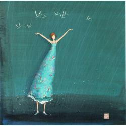 Carte Gaëlle Boissonnard - Les oiseaux blancs - 14x14 cm