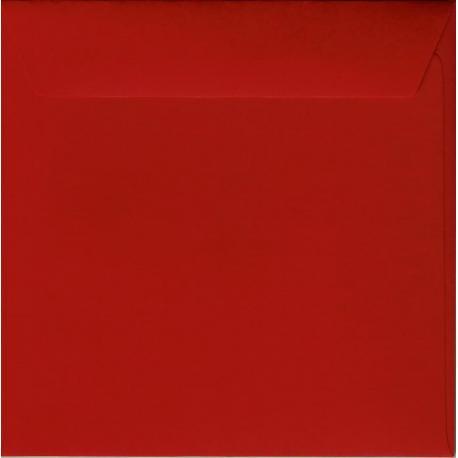 Enveloppe rouge carmin 14.5 x 14.5 cm