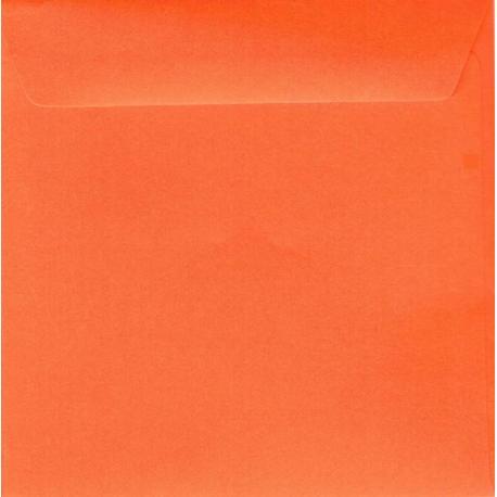 Enveloppe orange 14.5 x 14.5 cm