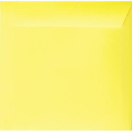 Enveloppe jaune citron 14.5 x 14.5 cm