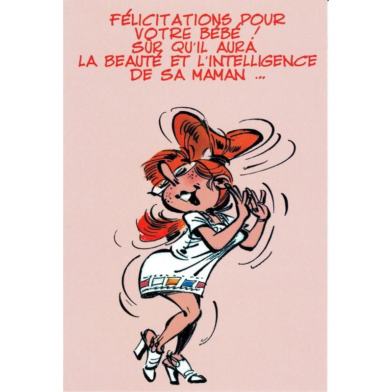 Carte gaston lagaffe f licitations pour votre b b 12x17 cm planete - Felicitation mariage humour ...