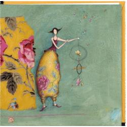"""Carte Gaëlle Boissonnard """"Le mobile aux papillons"""" 16x16 cm"""
