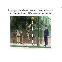 Carte humour de Cath Tate - Les cyclistes heureux... - 10.5x15 cm