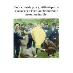 Carte humour de Cath Tate - Une invention inutile - 10.5x15 cm