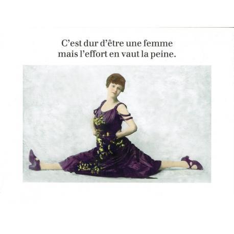 Carte Cath Tate - Dur d'être une femmee... - 10.5x15 cm