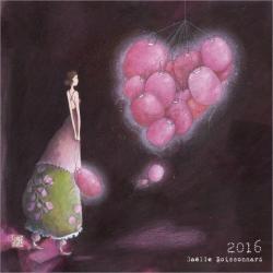 "Calendrier Gaëlle Boissonnard 2016 ""Les lampions roses"" 16x16 cm"
