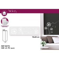 Stickers décoration fleurs - Format 20 x 70 cm