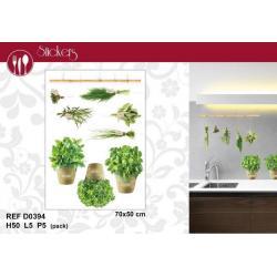 Stickers Plantes aromatiques - Format 50x70 cm