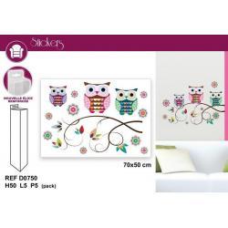 Stickers Hiboux - Format 50x70 cm