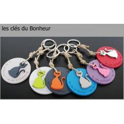 """Porte clés anneau Sophie Janière """"Les clés du bonheur"""""""