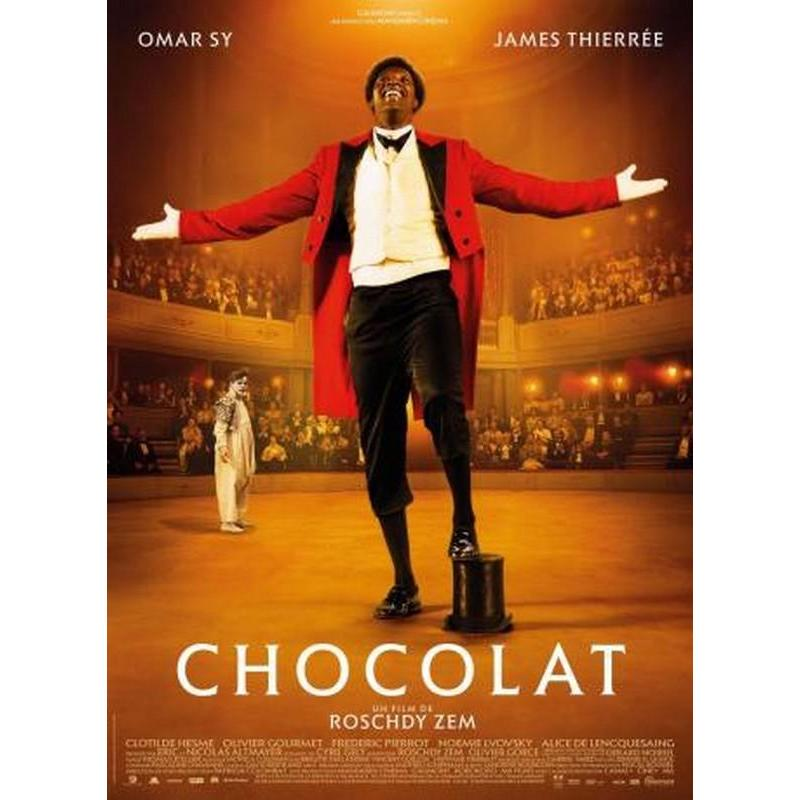 affiche chocolat avec omar sy roschdy zem 2016 40x53 cm planete. Black Bedroom Furniture Sets. Home Design Ideas