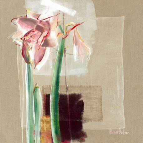 Carte C. Bernarduchêne - Amaryllis japonisant - 14x14 cm