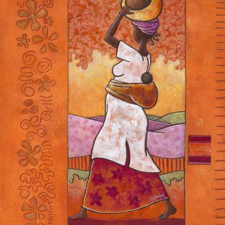 Carte Géraldine Bandiziol - Au coeur de l´Afrique - 14x14 cm