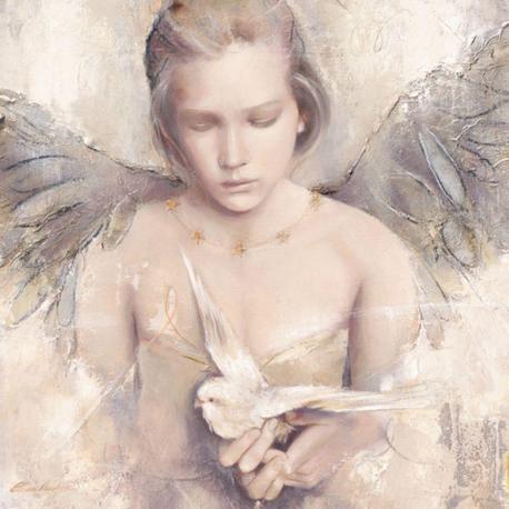 Carte Elvira Amrhein - Rêverie d´ange - 14x14 cm