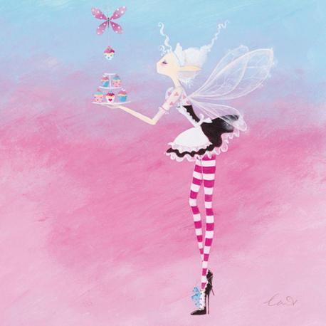 Carte Lorrie McFaul - Fairy Cake - 14x14 cm