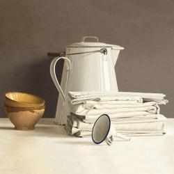 Carte Willem de_Bont - White Can and white Cloths - 14x14 cm