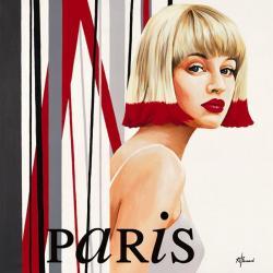 Carte Anne Bernard - Femme Cheveux rouges - 14x14 cm
