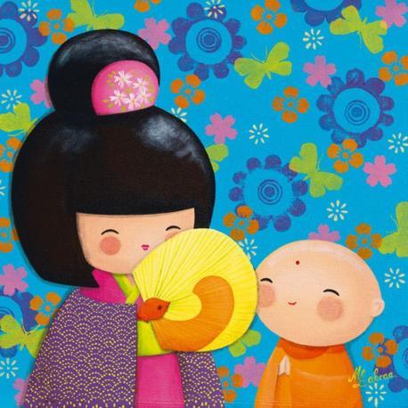 Carte Myriam Lakraa - Takara & Jizo, série Pop - 14x14 cm