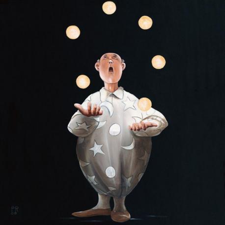 Carte Pierre Rouillon - Le jongleur II - 14x14 cm
