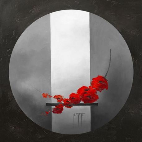 Carte Bernadette Triki - Fleurs rouges - 14x14 cm