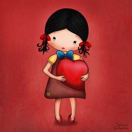 Carte Jolinne - Love You Much - 14x14 cm