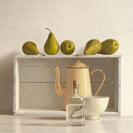 Carte Willem de_Bont - Five Pears on Box - 14x14 cm