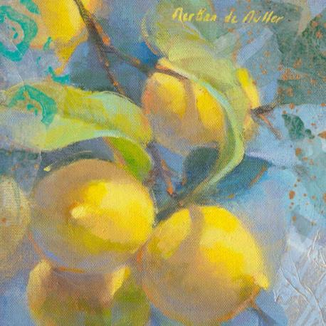 Carte Emmanuelle Mertian_de_Muller - Citrons II - 14x14 cm