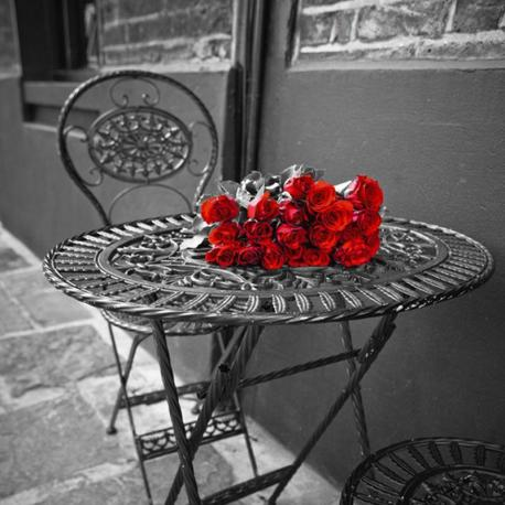 Carte Franck Assaf - romantic roses II - 14x14 cm