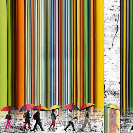 Carte Maïlo - Les passagers des ombrelles - 14x14 cm