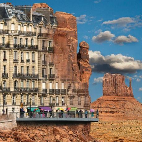 Carte Maïlo - Rêves urbain: Entre Paris et Monument Vall - 14x14 cm