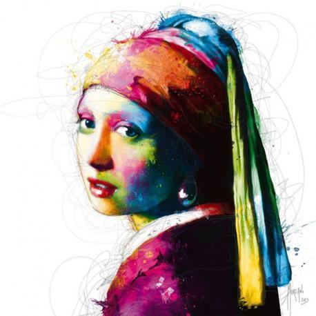 Carte Patrice Murciano - Vermeer Pop / La fille à la perle - 14x14 cm