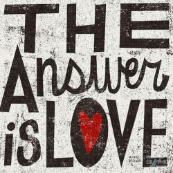 Carte Michael Mullan - The answer is love - 14x14 cm