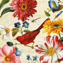 Carte Lisa Audit - Rainbow Garden III - Cream - 14x14 cm