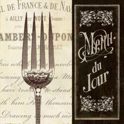 Carte Pela Studio - French menu II - 14x14 cm