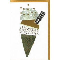 Carte Very Chic - Cornet de glace - 12x17 cm
